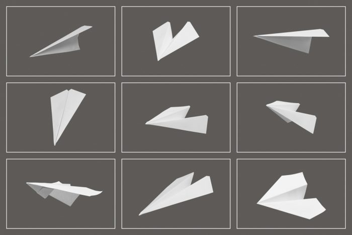 Paper Airplane Overlays