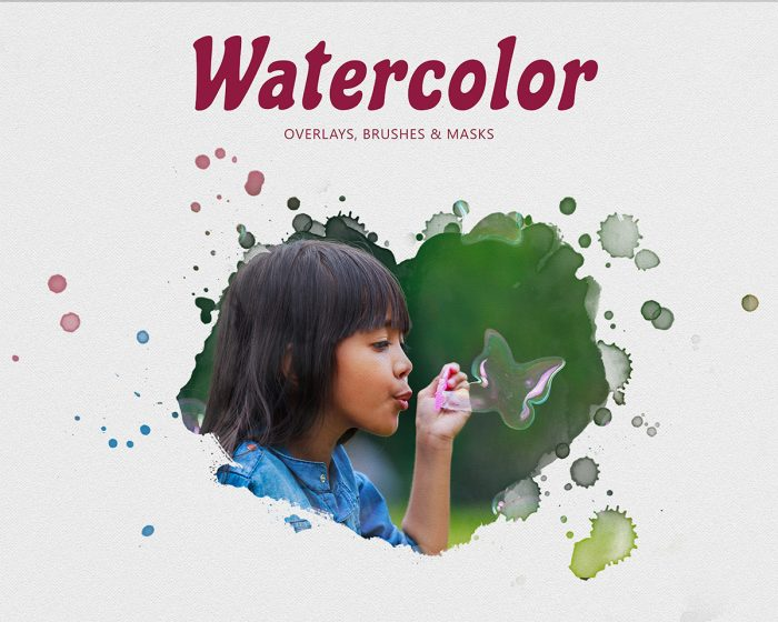 Watercolor Overlay Masks