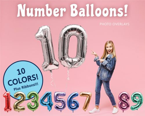Number Balloon Overlays