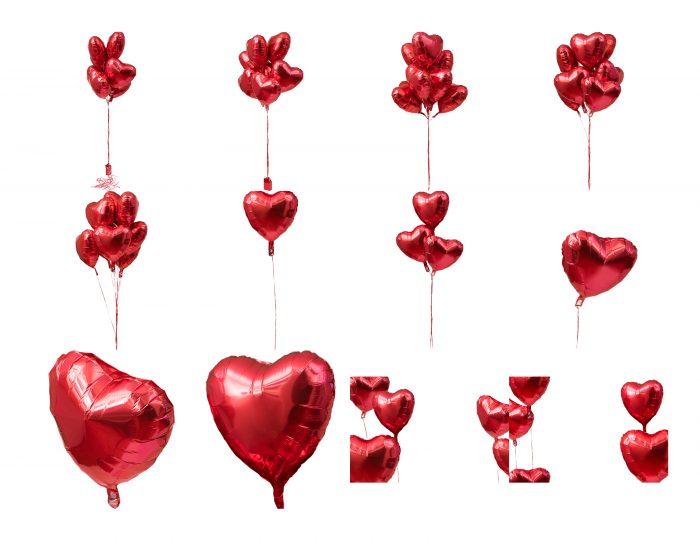 Ballon Hearts Proof Sheet