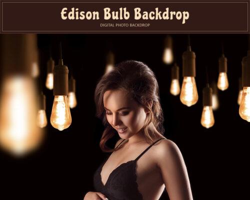 Edison Bulb Backdrop