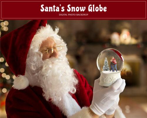 Santa Holding Snow Globe